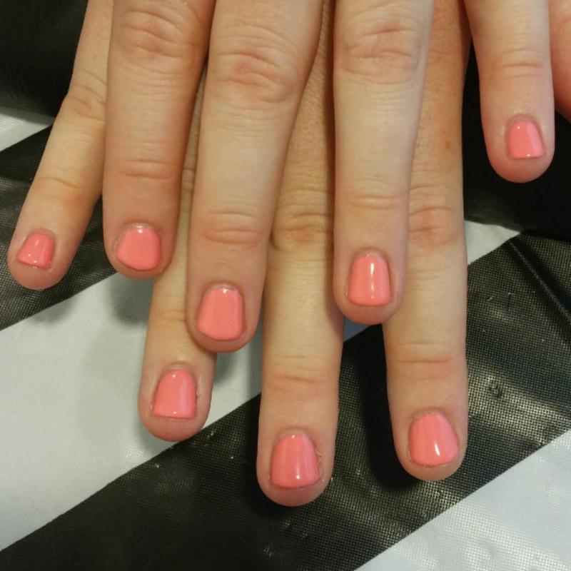 Just Peachy nail art by Kristen Lovett
