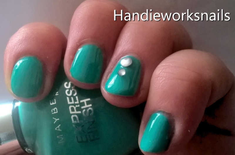 Tiffany Box nail art by Sazjay