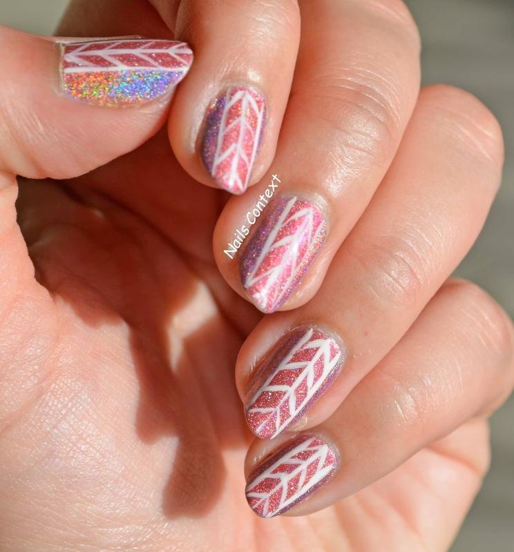 Holo Pink Nails  nail art by NailsContext