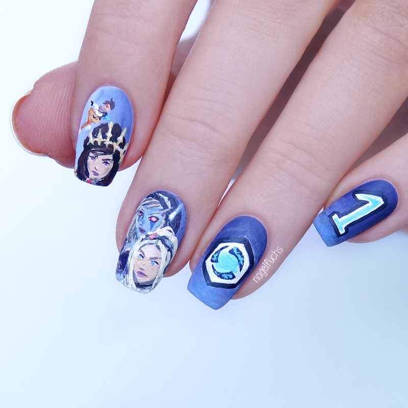 Heroes of the Storm Nailart nail art by nagelfuchs