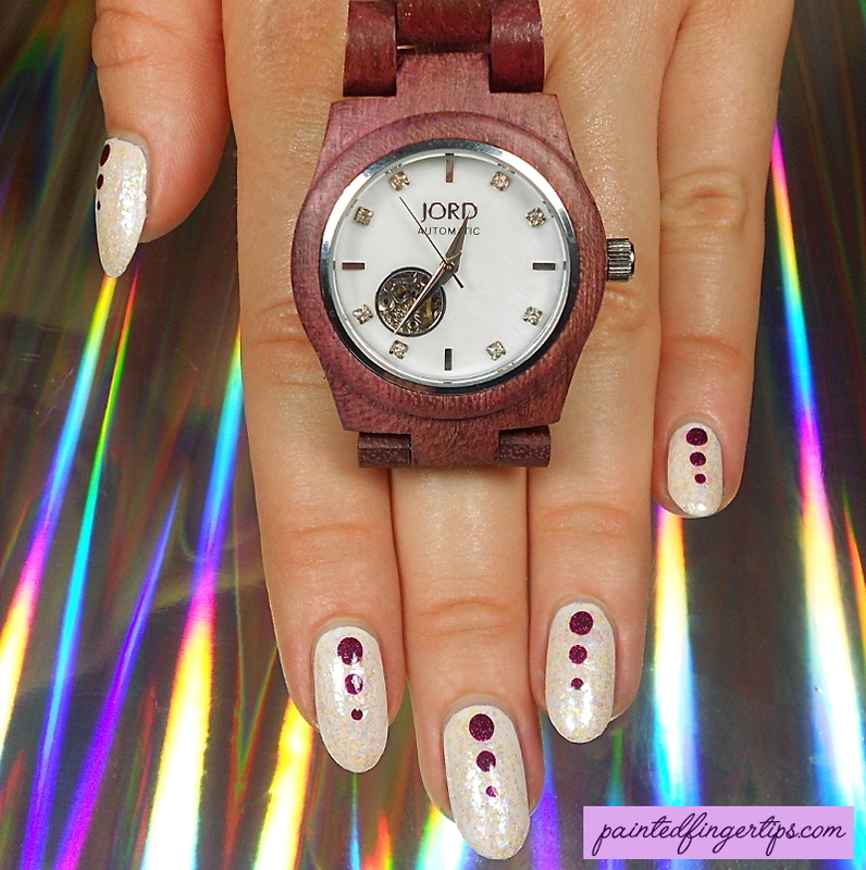 Matching watch and nails! nail art by Kerry_Fingertips