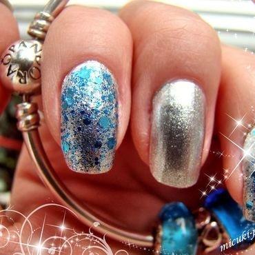 aqua nail art by MICUKI_kasia