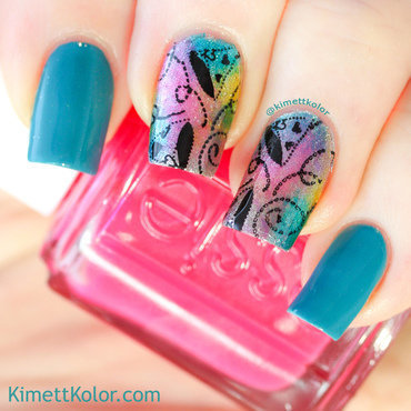 Party Hats for Lisa nail art by Kimett Kolor