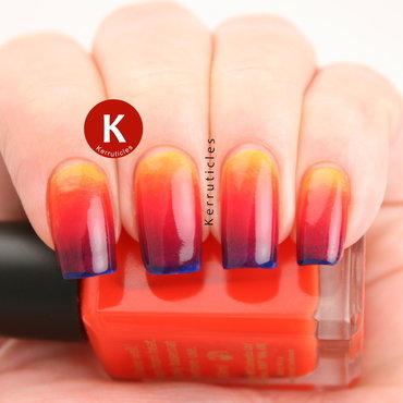 Summer gradient nail art by Claire Kerr