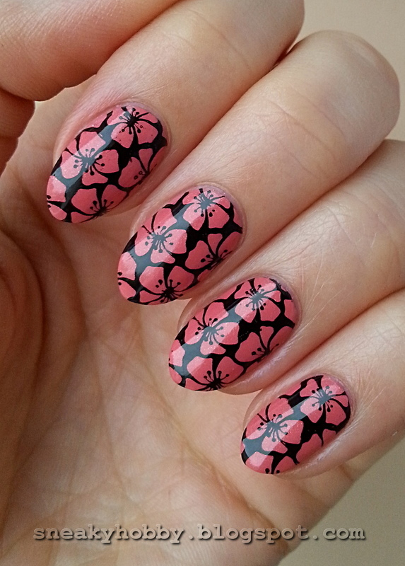 Tropical Cherry Blossoms? nail art by Mgielka M
