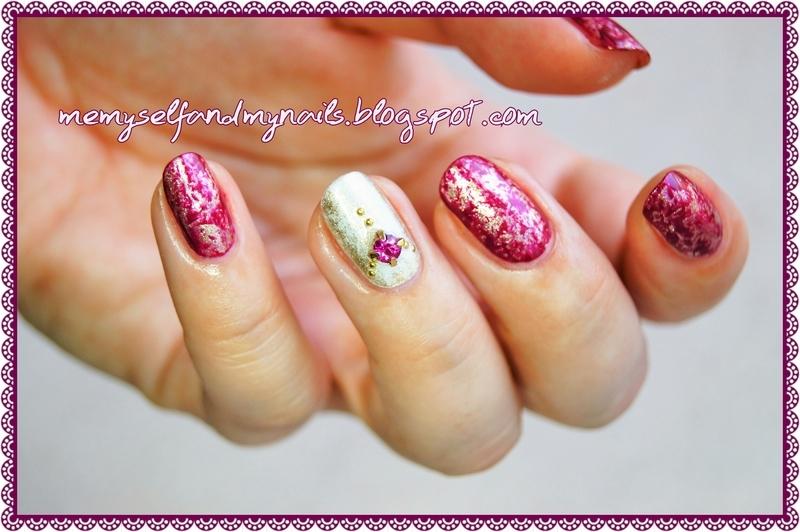 Royal Saran nail art by ELIZA OK-W
