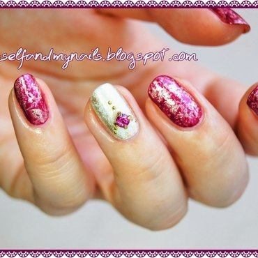 Royal Saran nail art by ELIZA OK-W