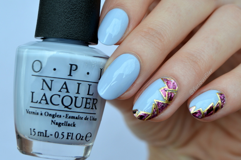 Pastel + Holo nail art by Furious Filer