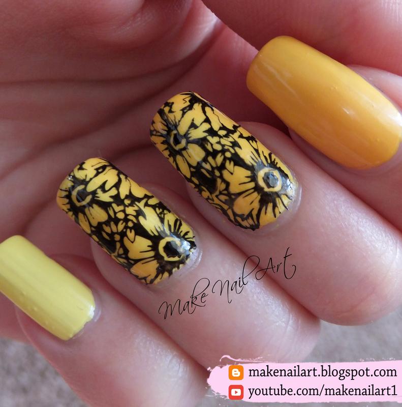 Summer Flowers Nail Art Design nail art by Make Nail Art
