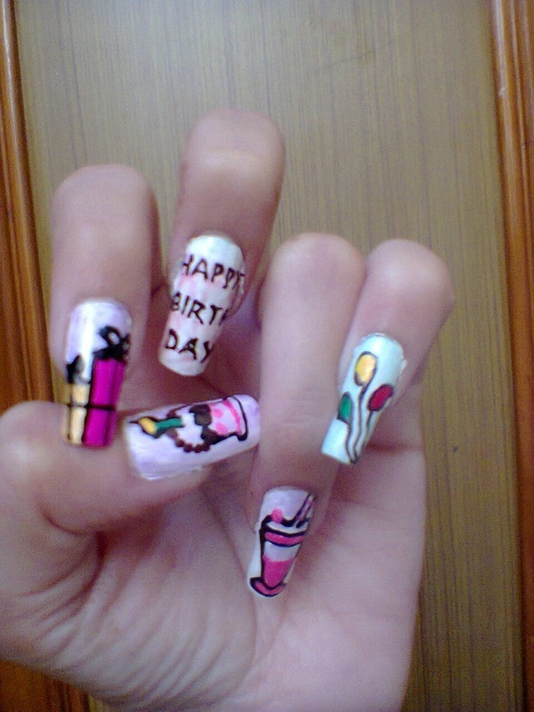 happie bday🍰 nail art by Agnani