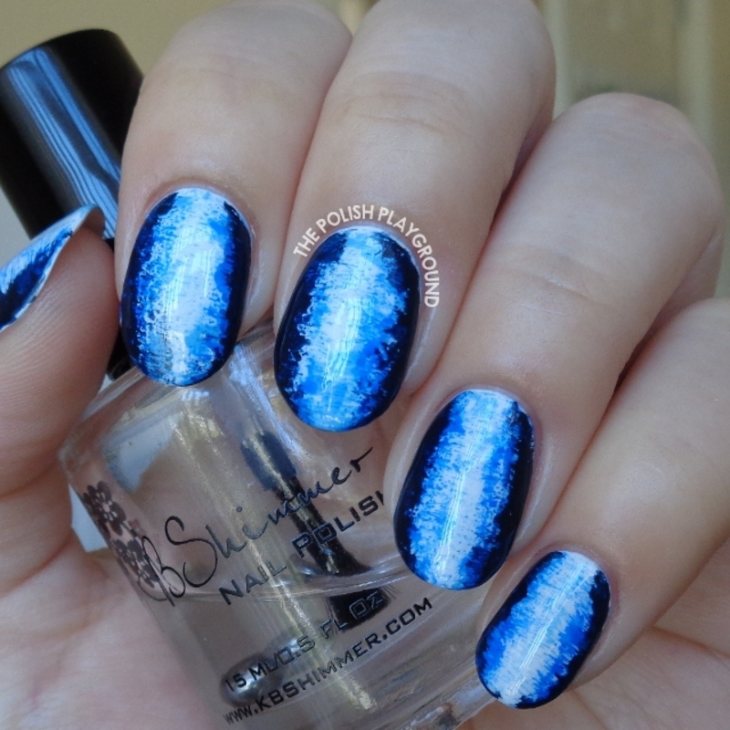 Blue 3D Inspired Nail Art nail art by Lisa N