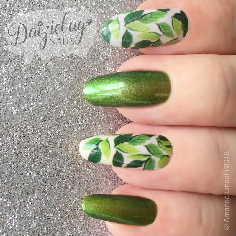 Leafy Manicure nail art by Daiziebug_Nails