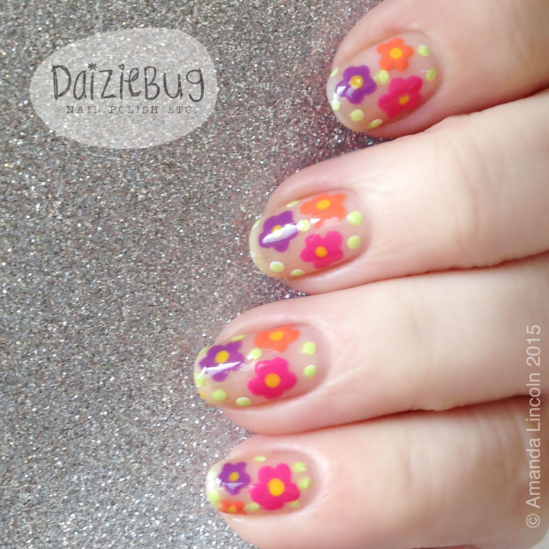 Spring Flower nail art nail art by Daiziebug_Nails