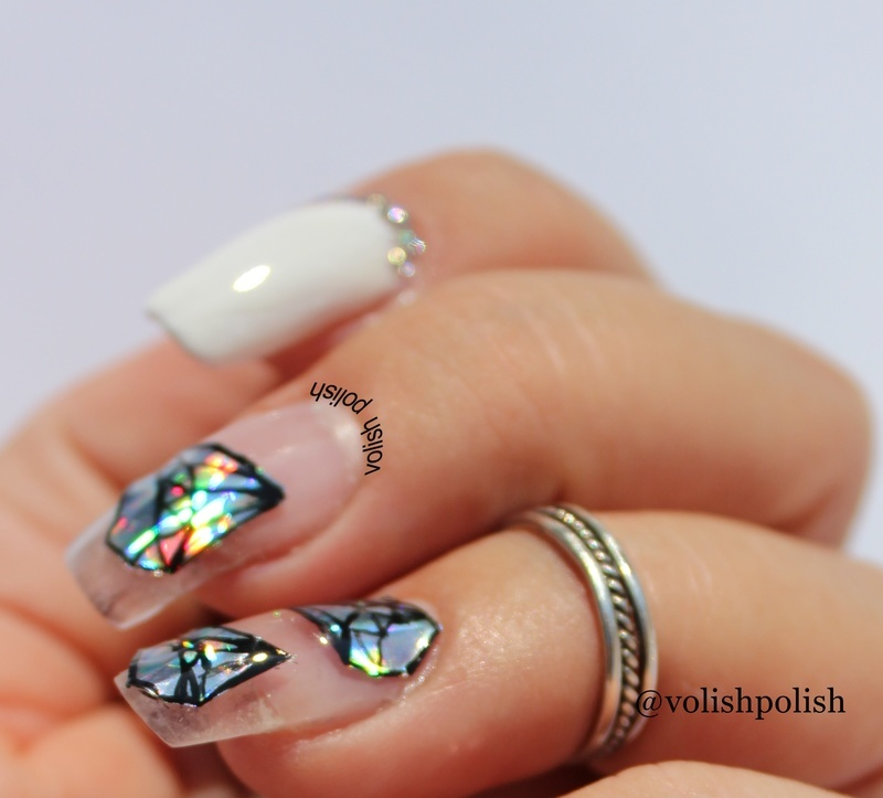 Diamond nail art  nail art by Volish Polish