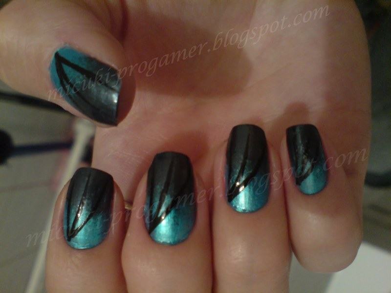 aquarius nail art by MICUKI_kasia