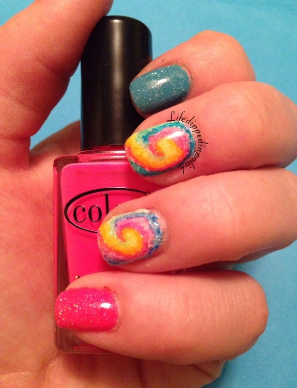 Summer Tye Die  nail art by lifedippedinpolish