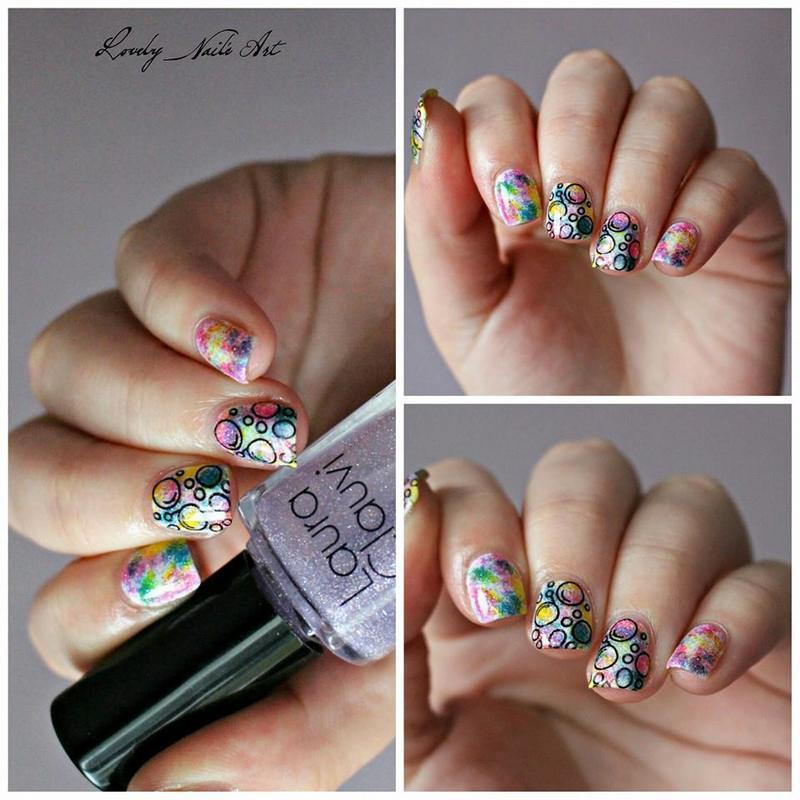 Nail art stamping bublles nail art by Lovely Nail's  Art