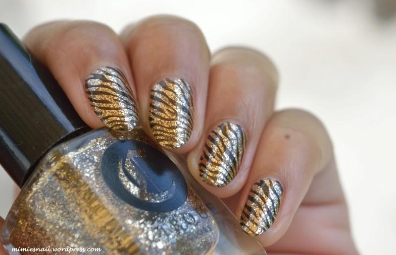 Bling bling zebra nail art by MimieS Nail