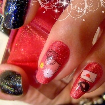 love love nail art by MICUKI_kasia