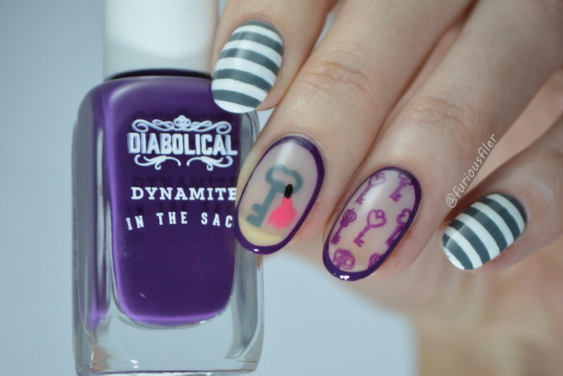 Grand Budapest Hotel nail art by Furious Filer
