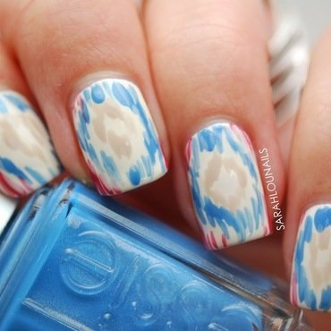 TOMS Ikat Pattern Nails! nail art by Sarah S