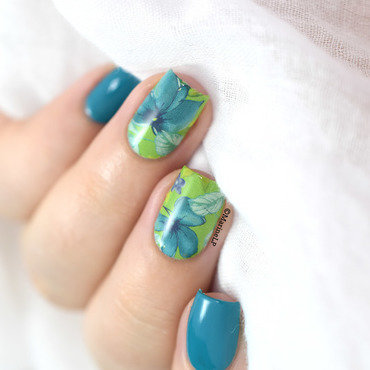 Floral water decals nails 20 7  thumb370f