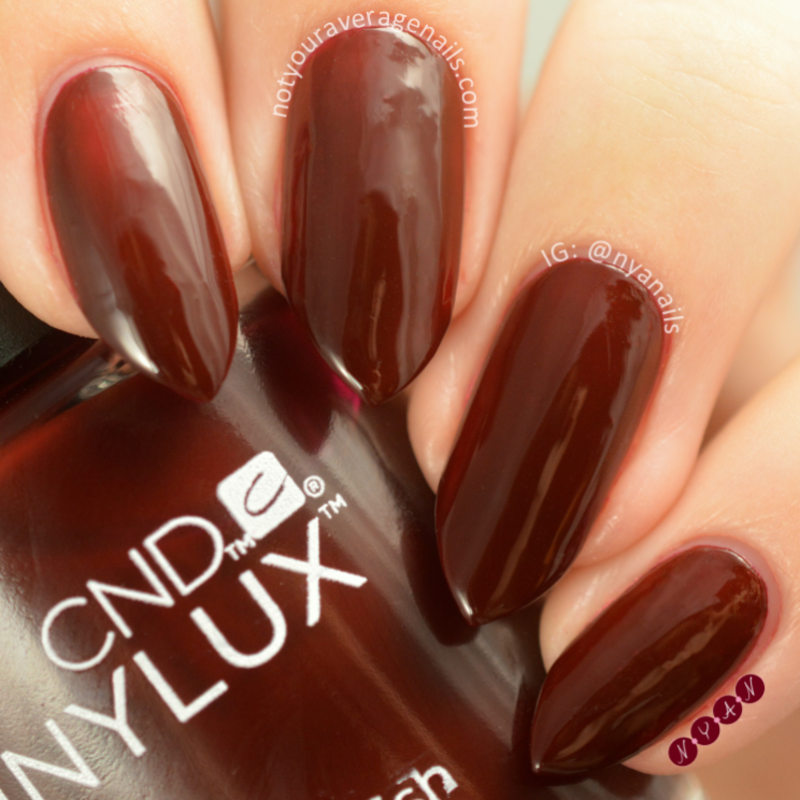 CND Oxblood Swatch by Becca (nyanails)