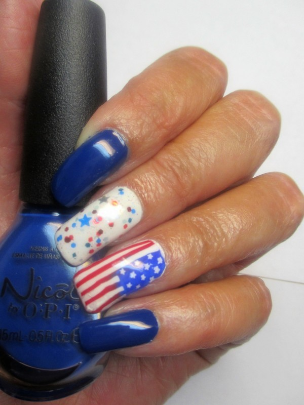 Happy 4th nail art by NinaB