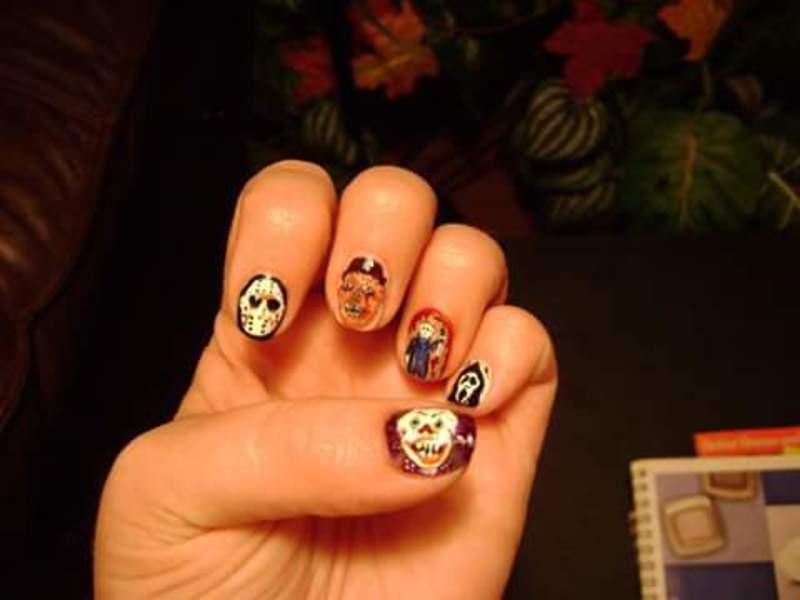 Killer nails nail art by Teana Jones