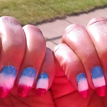 A Little Red, White and Blue nail art by Jackie Bodick