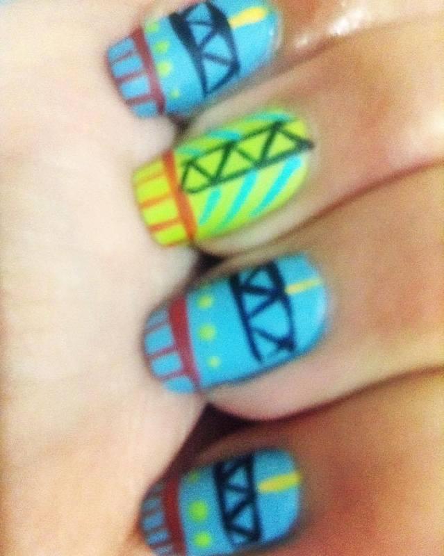 Watusi Watoto Inspired! nail art by Kar Pérez