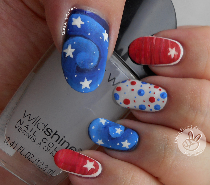 July 4th!  nail art by Ithfifi Williams