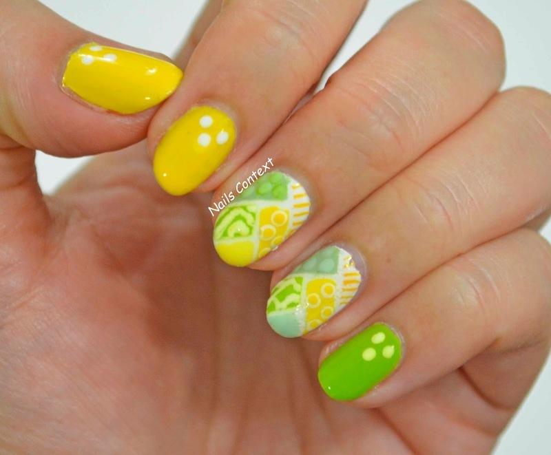 Summery Nails  nail art by NailsContext