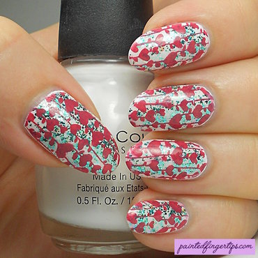 Stamped heart strings nail art by Kerry_Fingertips