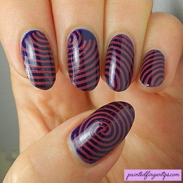 Pink stamped swirls thumb370f