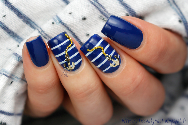 Sailor Nails nail art by Yue