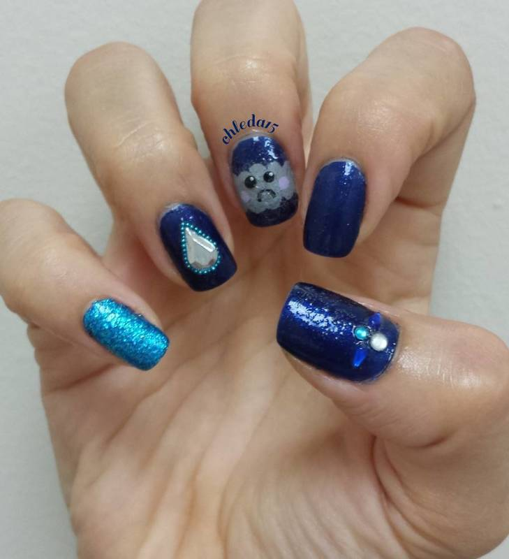 Don't Worry, the Sun will Shine Again nail art by chleda15
