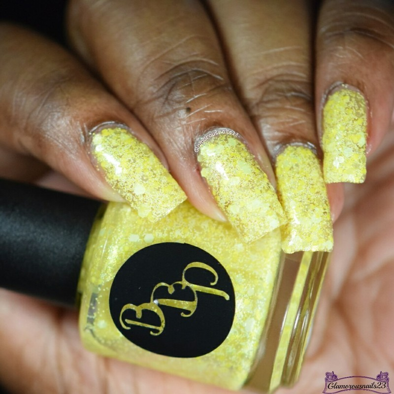 Bad Bitch Polish Lemon Swatch by glamorousnails23