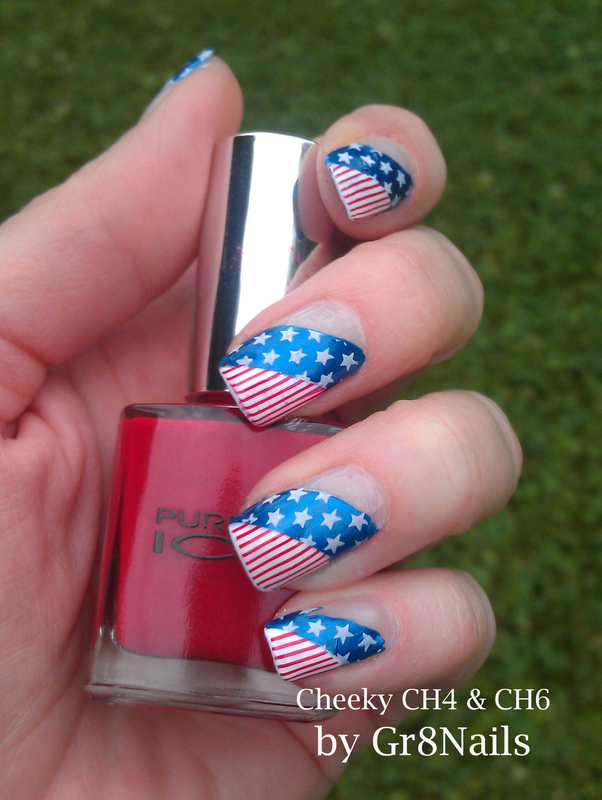 Stars and Stripes nail art by Gr8Nails