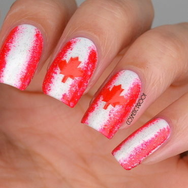 Happy Canada Day! nail art by Jayne