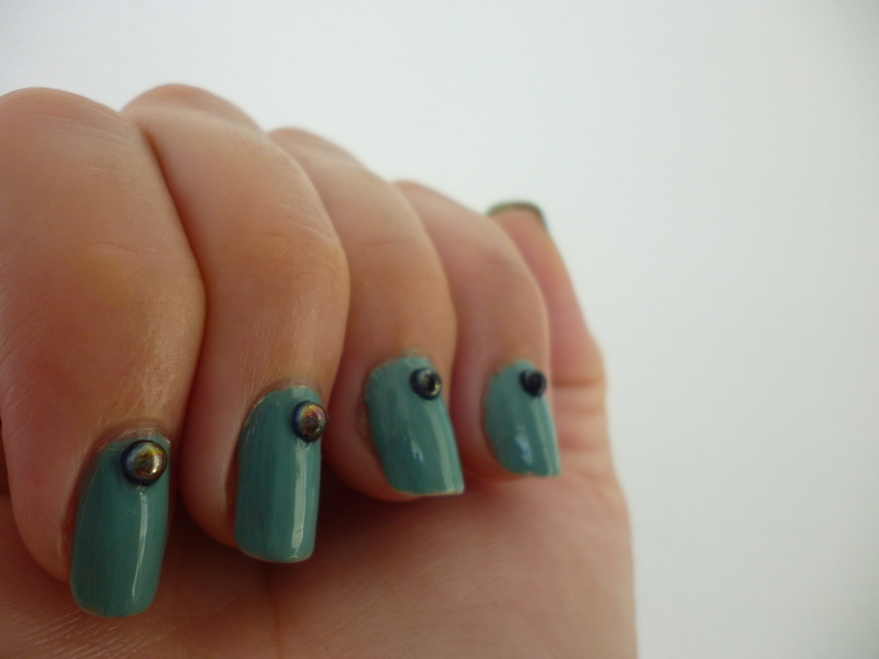Rainy Cloudy Summer Day nail art by velinux