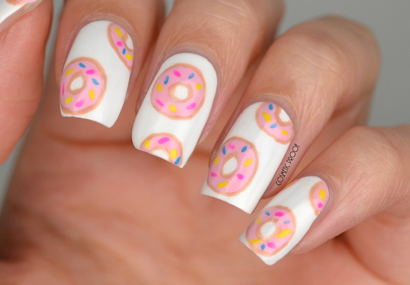 I love Donuts! nail art by Jayne