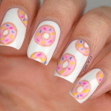 I love Donuts! nail art by Jayne