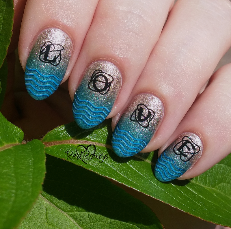 I love sea nail art by RedRouge
