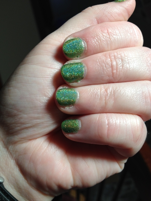 Green With Envy nail art by Crystal (Seriously Lacqueing)