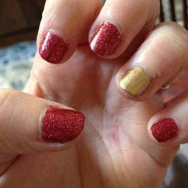 Simply Valentine's nail art by Crystal (Seriously Lacqueing)