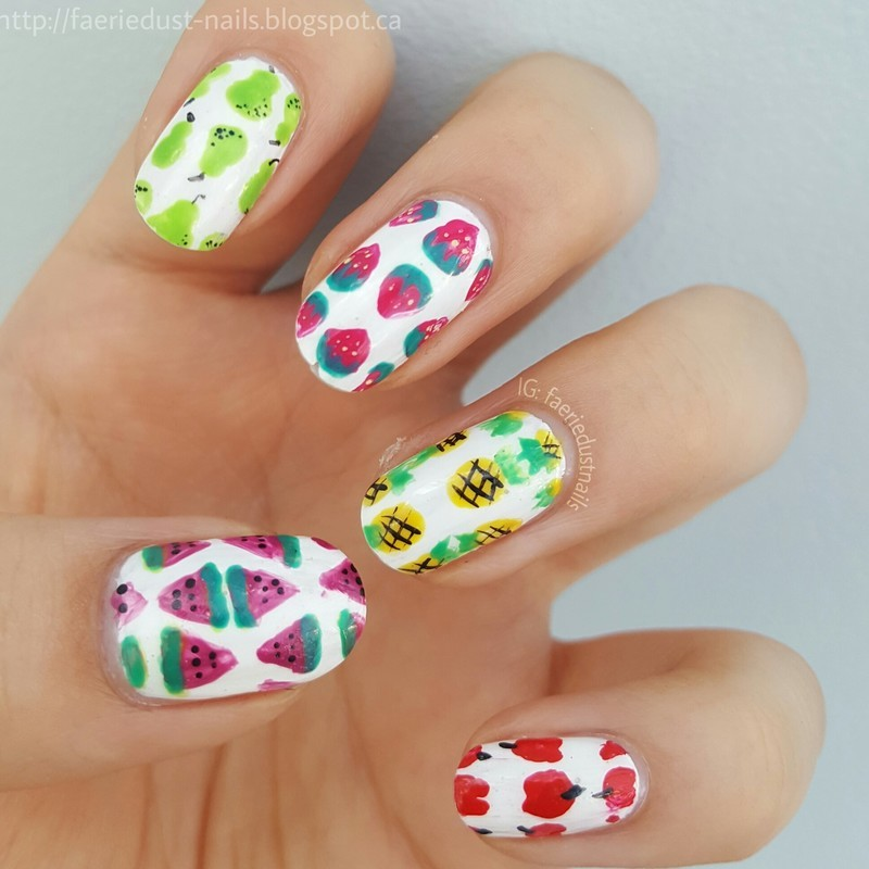 Tutti Fruitti Nails nail art by Shirley X.