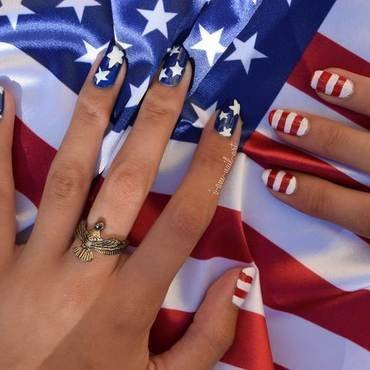 4th of July 🗽 nail art by i-am-nail-art