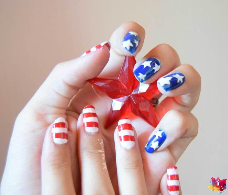 4th of July 🗽 nail art by i-am-nail-art