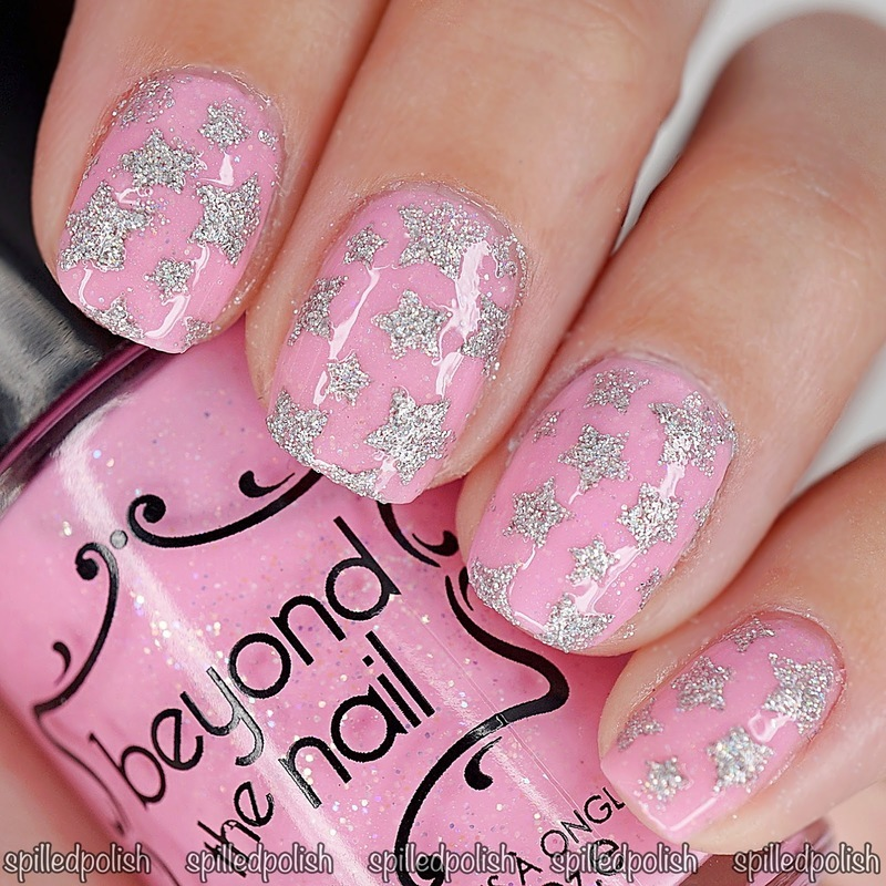 Textured Stars nail art by Maddy S